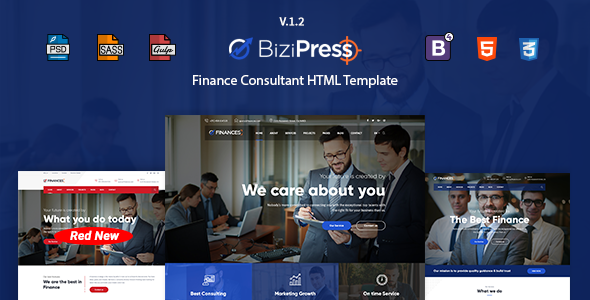 BiziPress - Finance, Consulting, Business HTML Template - Business Corporate
