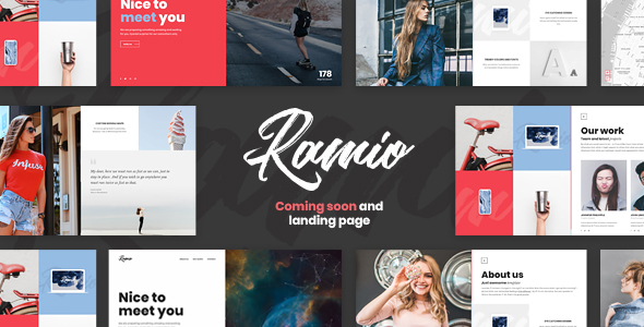 Image of Ramio - Clean Coming Soon and Landing Page Template