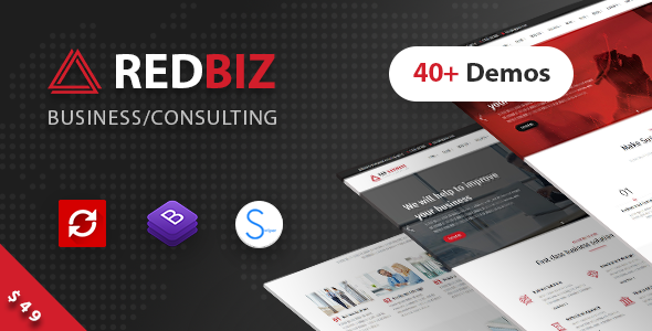 Image of RedBiz - Finance & Consulting Multi-Purpose WordPress Theme