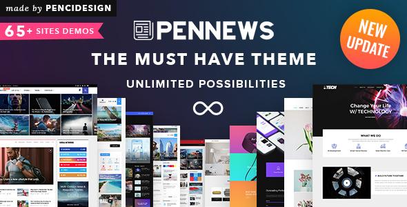 Image of PenNews - News/ Magazine/ Business/ Portfolio/ Landing AMP WordPress Theme