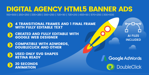 SEO Genius Digital Agency - Animated HTML5 Banner Ad Templates (GWD) - CodeCanyon Item for Sale