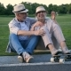 Happy Senior Couple Laughing After Skateboarding - VideoHive Item for Sale