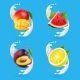 Fruit Yogurt Set - GraphicRiver Item for Sale