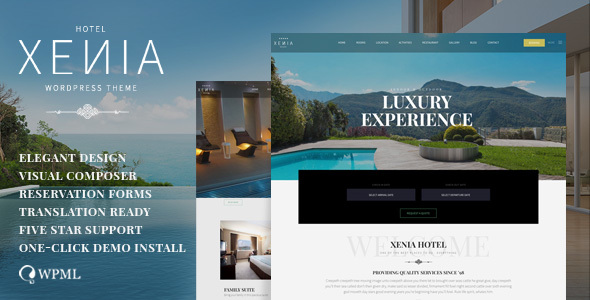 Download Hotel XΕΝΙΑ  – Resort & Booking WordPress Theme nulled preview hotel xenia