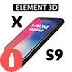 X-Phone Promo For Element 3D + S9 - VideoHive Item for Sale