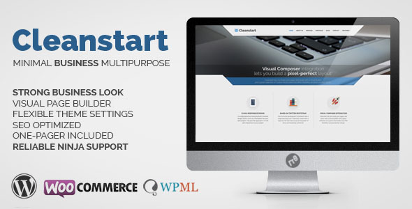 WordPress Corporate Business Theme - Cleanstart