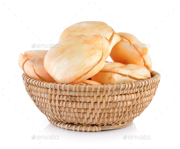 Asian Palmyra palm, Toddy palm, Sugar palm in basket on white ba - Stock Photo - Images