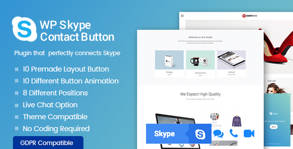 WP Skype Contact Button - Premium Skype Button Plugin for WordPress