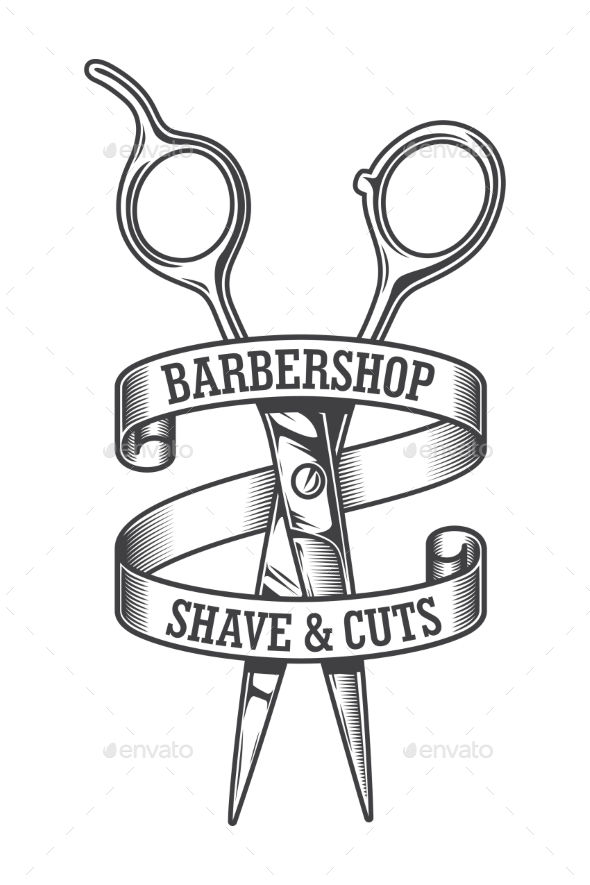 Vintage Monochrome Hairdresser Salon Logotype