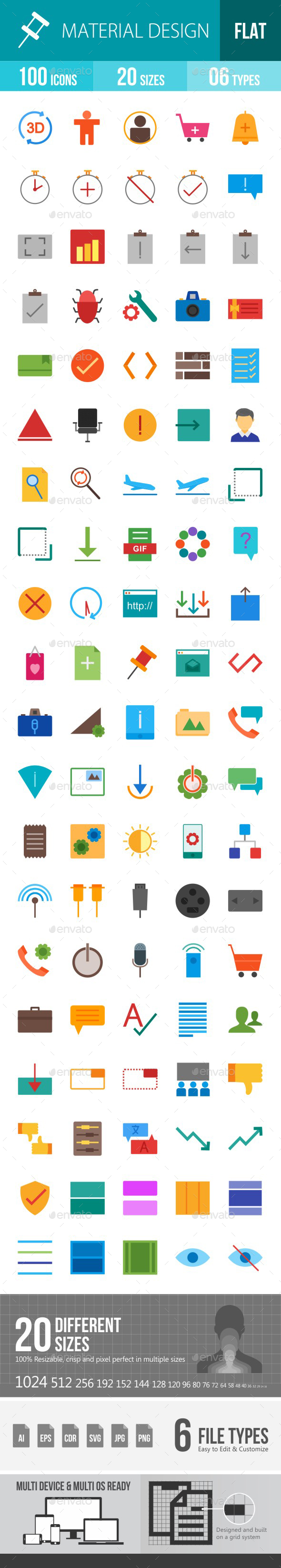 Material Design Flat Multicolor Icons - Icons