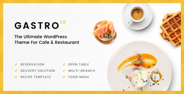 Gastro - Multipurpose Cafe & Restaurant WordPress Theme - Restaurants & Cafes Entertainment