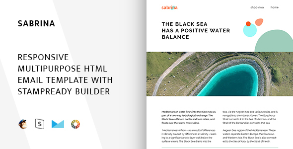 Image of Sabrina – Responsive Email + StampReady Builder & Mailchimp