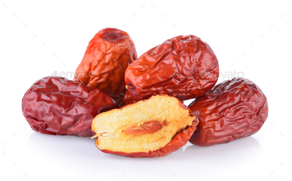 Dried red date or Chinese jujube - Stock Photo - Images