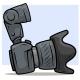 Cartoon Digital Photo Camera with Big Lens