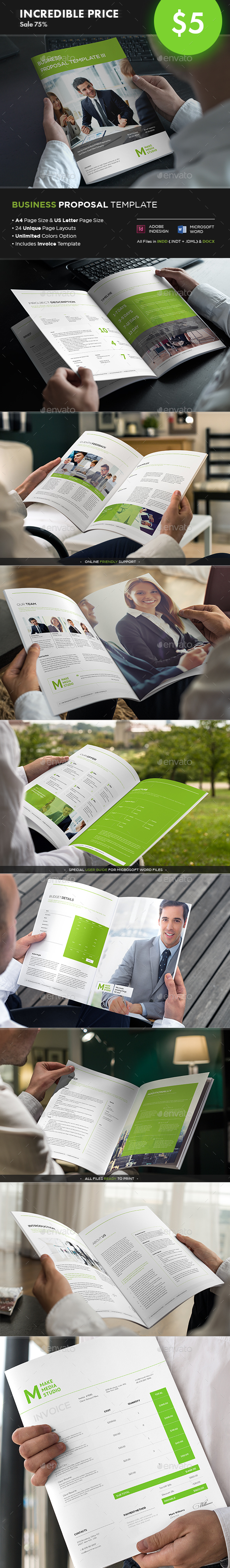 Business Proposal Template III - Proposals & Invoices Stationery