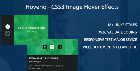Hoverio - CSS3 Image Hover Effects            Nulled