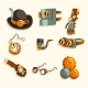 Steampunk Objects Set, Antique Mechanical Devices