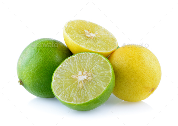 lime on white background - Stock Photo - Images