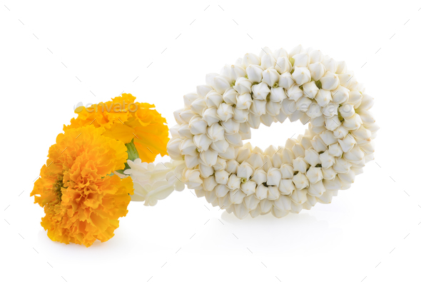 Malai The flower in Thai Tradition Style - Stock Photo - Images