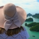 Female Traveler Enjoying View of Tropical Islands at Angthong National Marine Park in Thailand - VideoHive Item for Sale