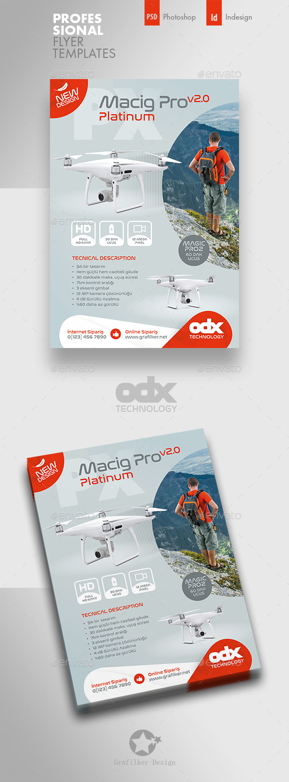 Technology Flyer Graphics Designs Templates From Graphicriver