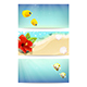 Banners with Sea Beach Coral Fishes and Hibiscus - GraphicRiver Item for Sale