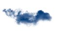 Clouds or blue smoke on white background - PhotoDune Item for Sale