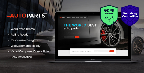 Car Parts Store & Auto Services WordPress Theme - Retail WordPress