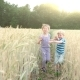 Brother and Sister in Field - VideoHive Item for Sale