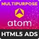 Atom - Multipurpose HTML5 Banners with Animated Particles