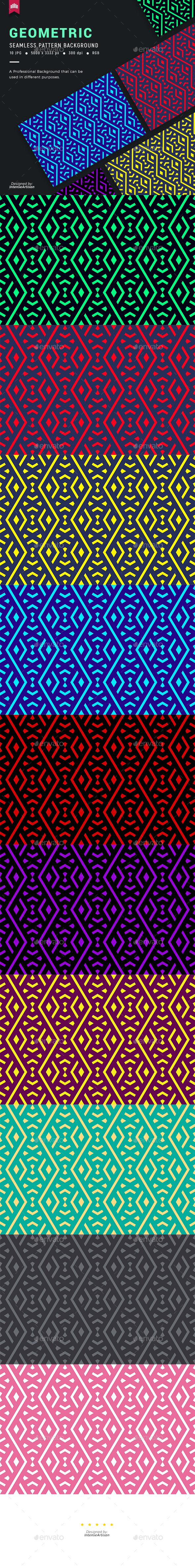 Geometric Seamless Pattern Background - Patterns Backgrounds