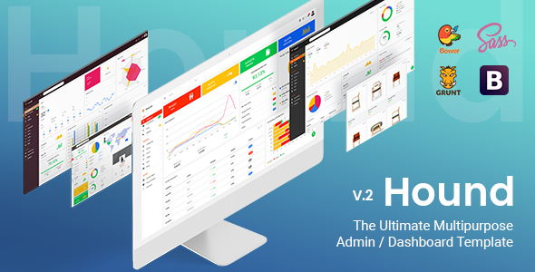 Image of Hound - The Ultimate Multipurpose Admin Template