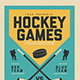 Vintage Hockey Game Flyer