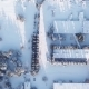Production Buildings in Winter. - VideoHive Item for Sale