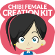 Chibi Character Female Creation Kit - GraphicRiver Item for Sale