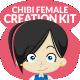Chibi Character Female Creation Kit