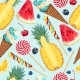 Tropic Summer Pattern - GraphicRiver Item for Sale