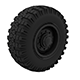Off-road wheel Tires - 3DOcean Item for Sale