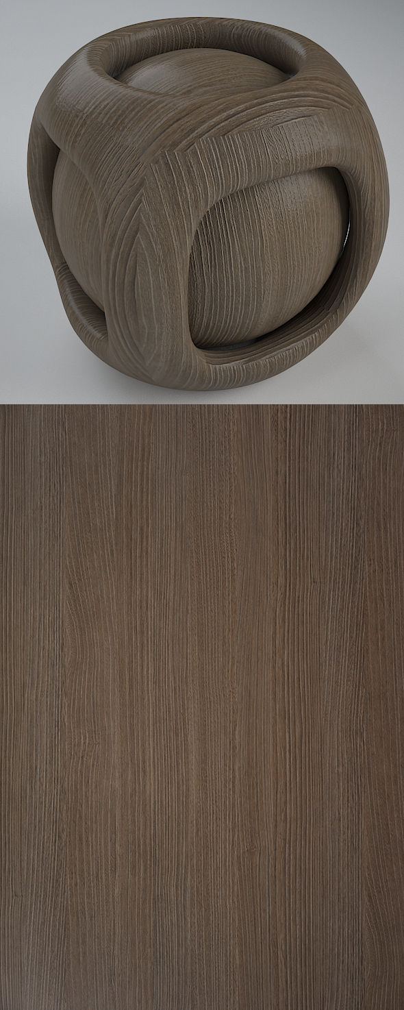 Real Plywood Vray Material Smoky Amur - 3DOcean Item for Sale
