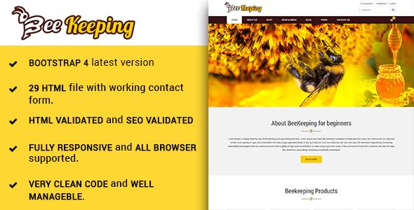 Image of BeeKeeping - Bootstarp-4 multipurpose beekeeping HTML5 template