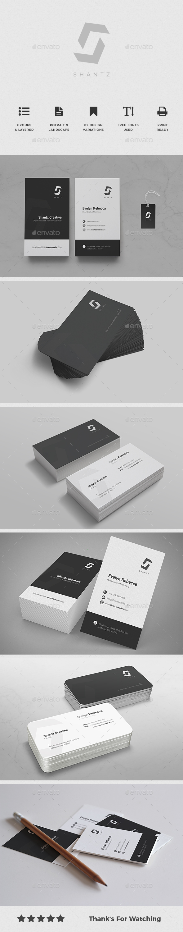 Minimalist Business Card Vol. 08 - Business Cards Print Templates