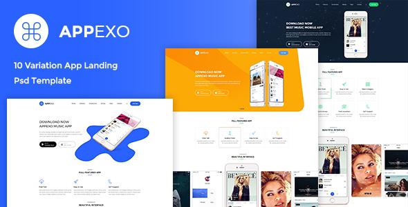 Appexo - App Landing PSD Template - PSD Templates