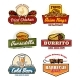 Vector Fast Food Restaurant or Bistro Icons - GraphicRiver Item for Sale