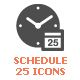 Time & Schedule Filled Icon - GraphicRiver Item for Sale