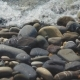 Large Pebble Stones By the Sea. Sea Waves Slow Movement on Pebble Stones - VideoHive Item for Sale