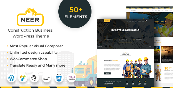 Neer - Construction Business WordPress Theme - Business Corporate