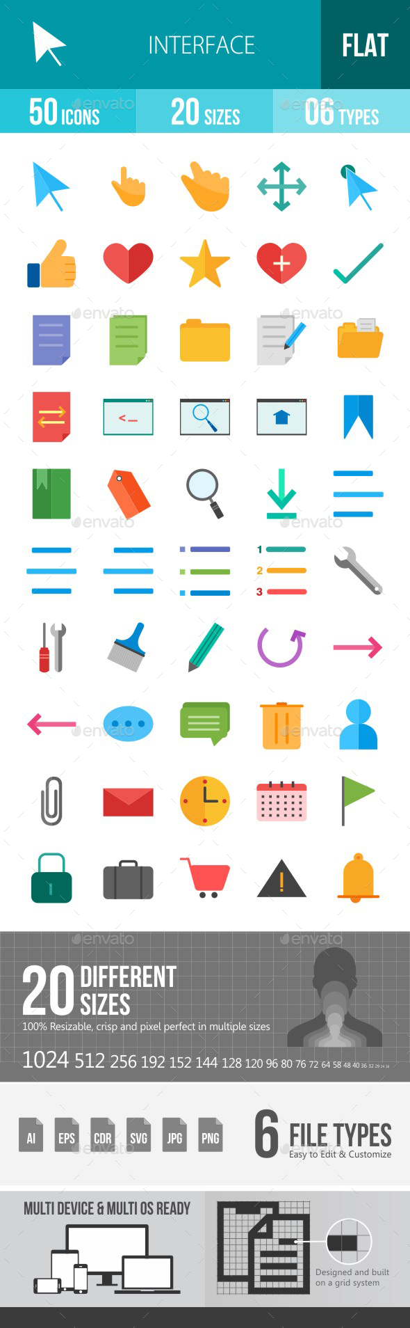 Interface Flat Multicolor Icons - Icons