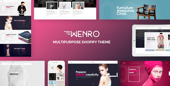 Wenro – Multipurpose Shopify Theme - Shopping Shopify