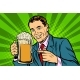 Man with a Mug of Beer Foam - GraphicRiver Item for Sale