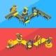 Vector Isometric Conveyor Elements Concept